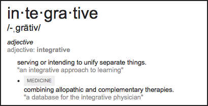 definition of integrative